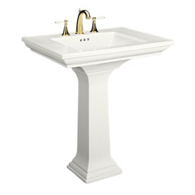 kohler memoirs 3475 in h fire clay pedestal sink