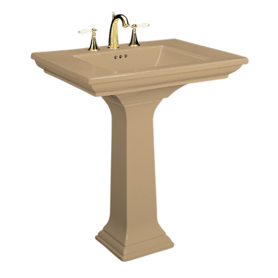 Memoirs Kohler Sink : Shop KOHLER Memoirs 34.75-in H Mexican Sand Fire Clay Pedestal Sink at ...