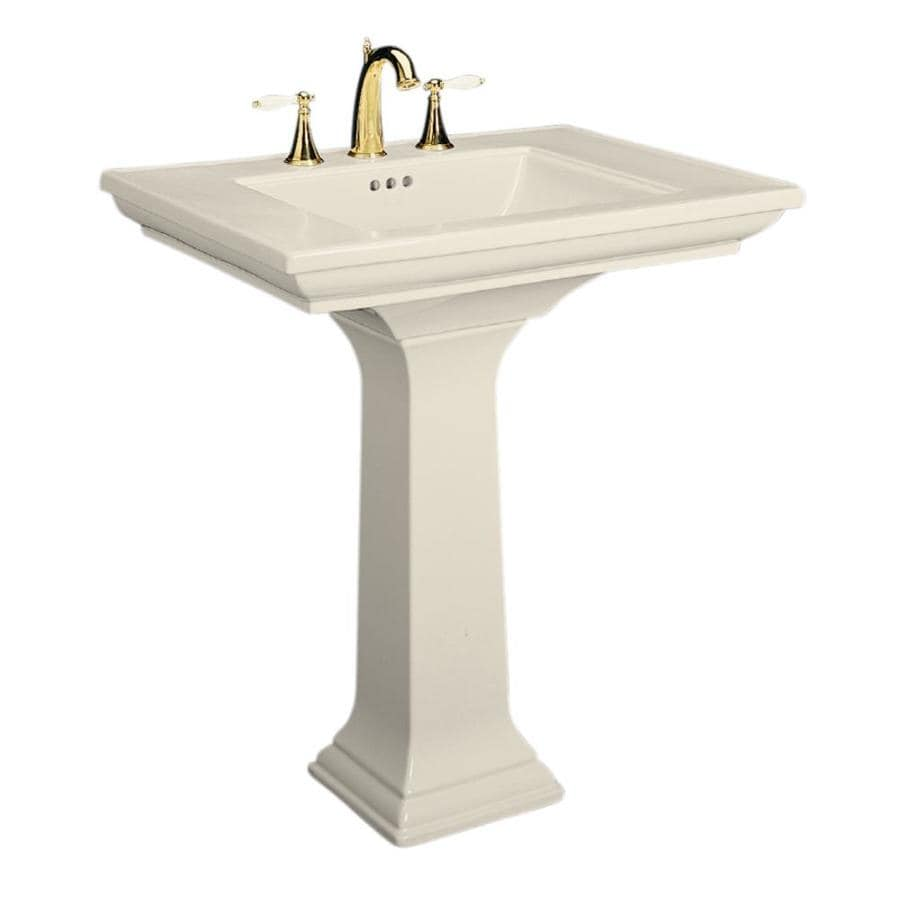 KOHLER Memoirs 34.75 In H Almond Fire Clay Pedestal Sink