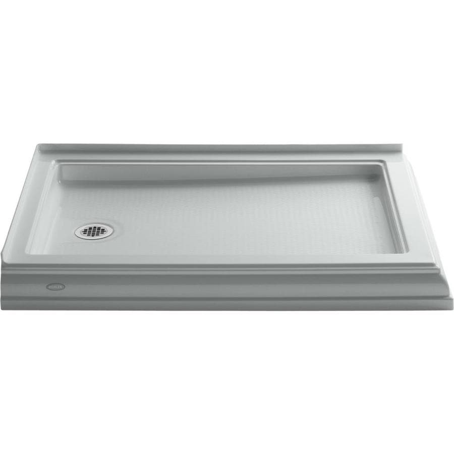 KOHLER Memoirs Ice Grey Acrylic Shower Base (Common: 34-in W x 48-in L; Actual: 34.0-in W x 48.0-in L)