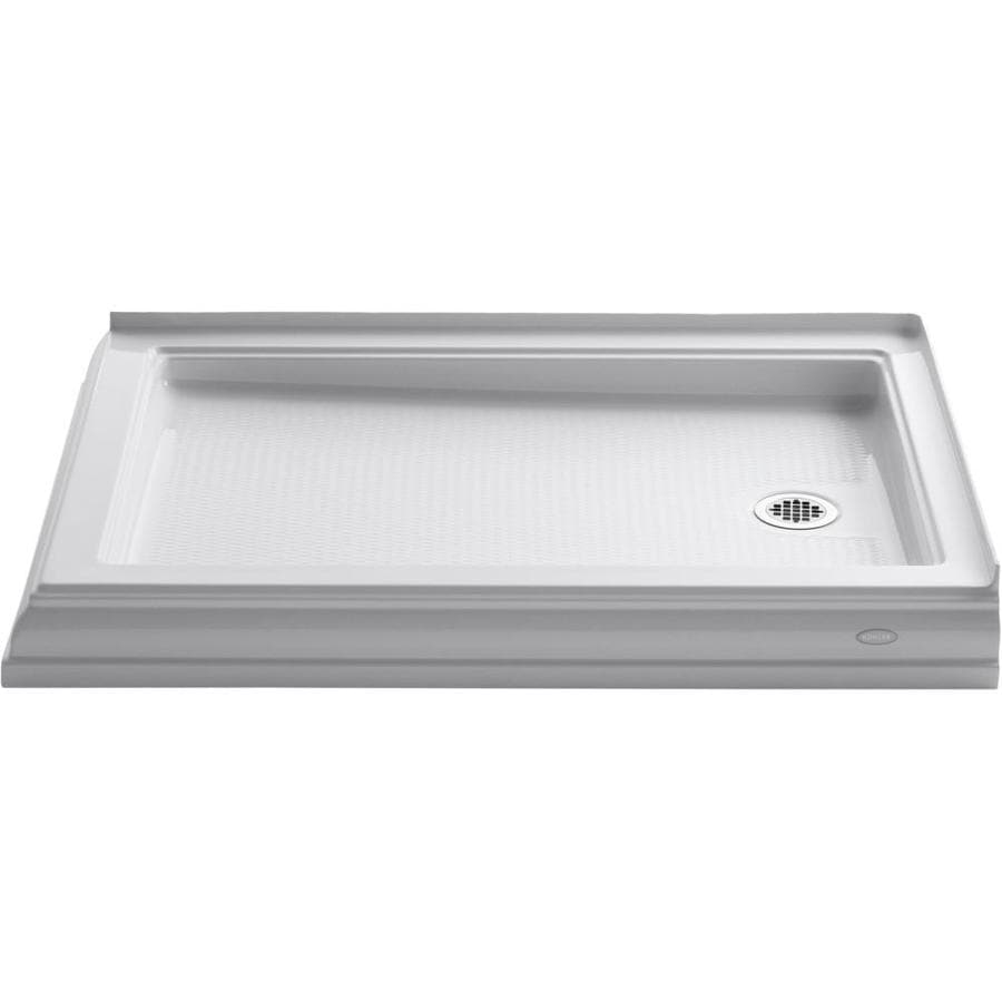 KOHLER Memoirs White Acrylic Shower Base (Common: 34-in W x 48-in L; Actual: 34.0000-in W x 48.0000-in L)
