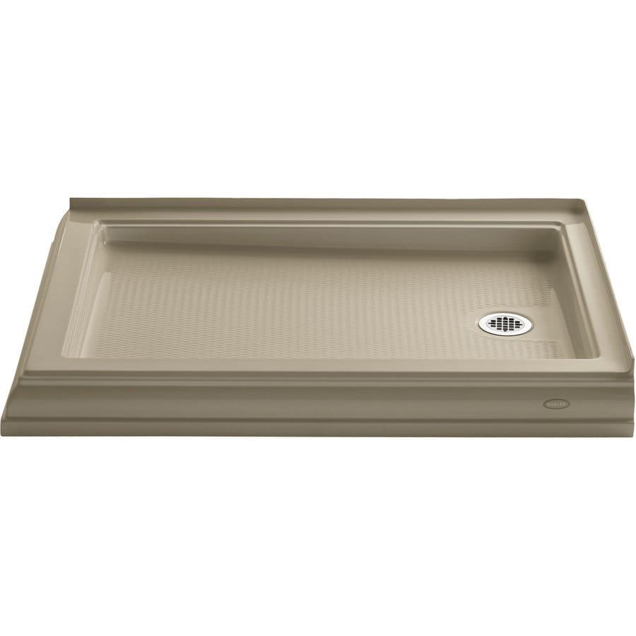 shower pan sizes kohler shower receptor center drain