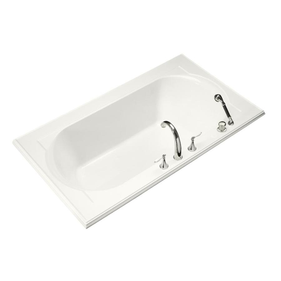 KOHLER Memoirs 72-in White Acrylic Drop-In Bathtub with Front Center Drain