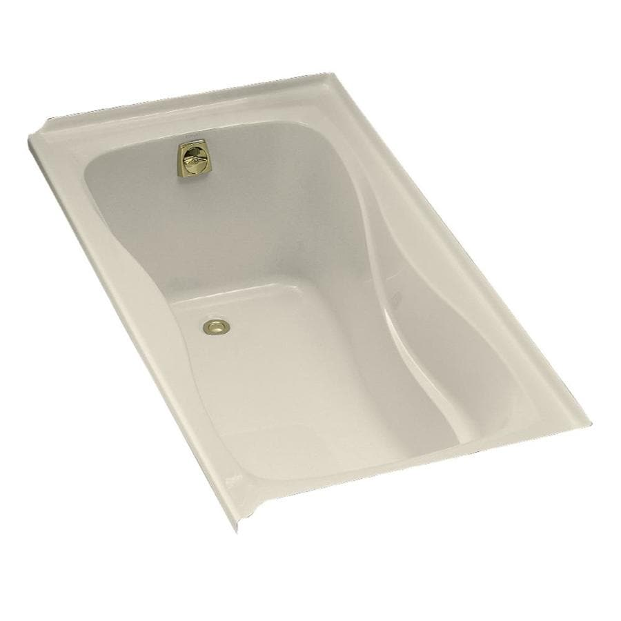 KOHLER Hourglass 60-in Almond Acrylic Drop-In Bathtub with Left-Hand Drain