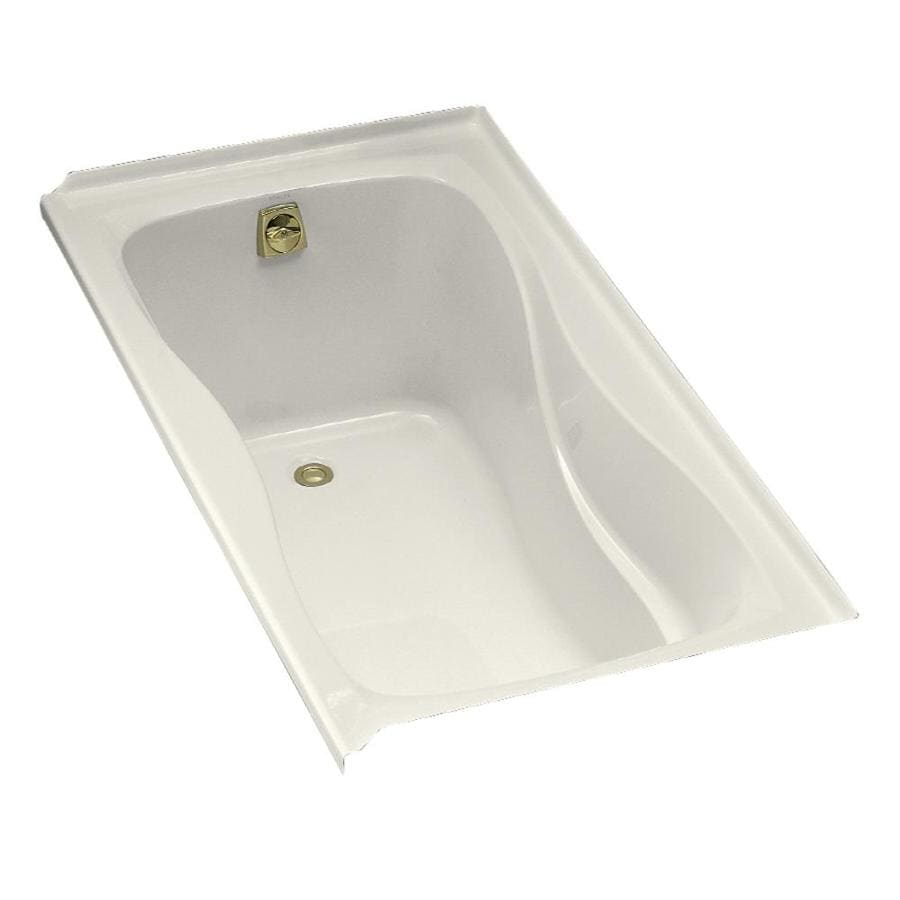 KOHLER Hourglass Biscuit Acrylic Hourglass In Rectangle Drop-in Bathtub with Left-Hand Drain (Common: 32-in x 60-in; Actual: 20-in x 32-in x 60-in)