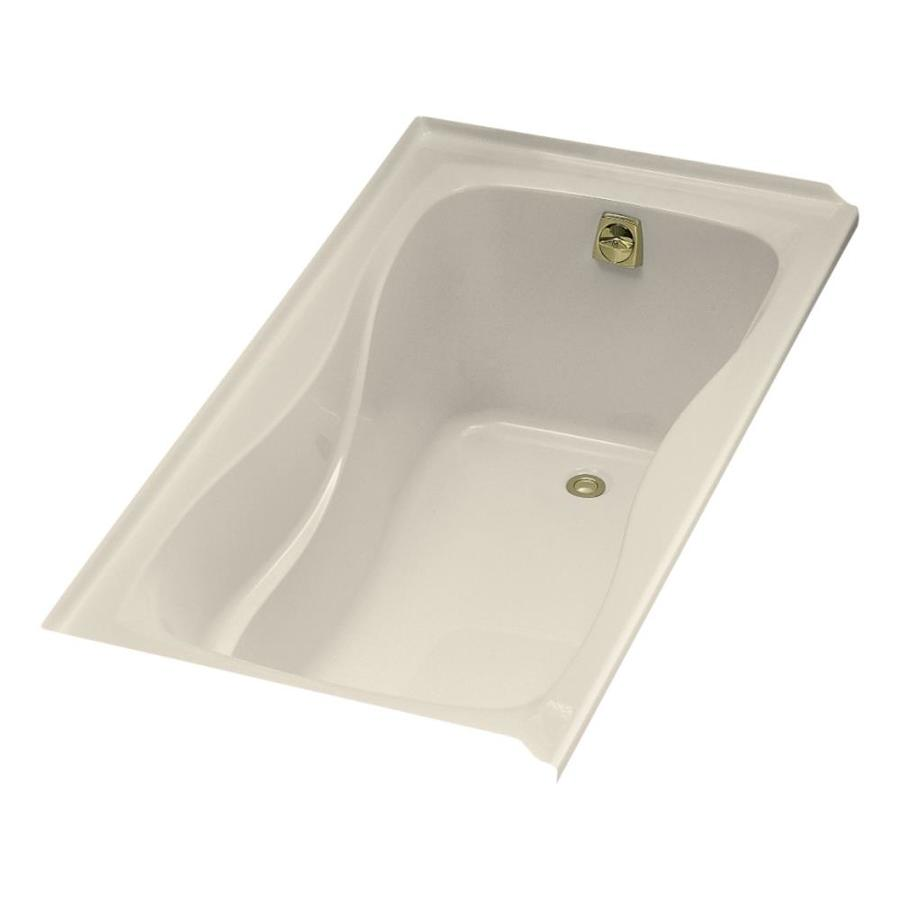 KOHLER Hourglass 60-in Almond Acrylic Drop-In Bathtub with Right-Hand Drain