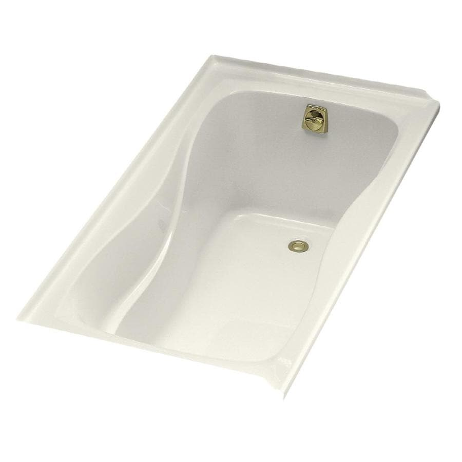 KOHLER Hourglass 60-in Biscuit Acrylic Drop-In Bathtub with Right-Hand Drain
