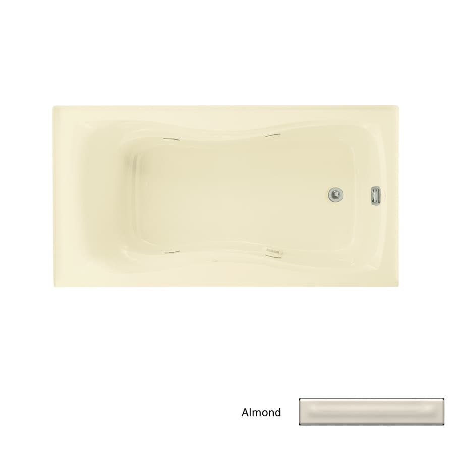 KOHLER Hourglass Almond Acrylic Hourglass In Rectangle Whirlpool Tub (Common: 32-in x 60-in; Actual: 20-in x 32-in x 60-in)