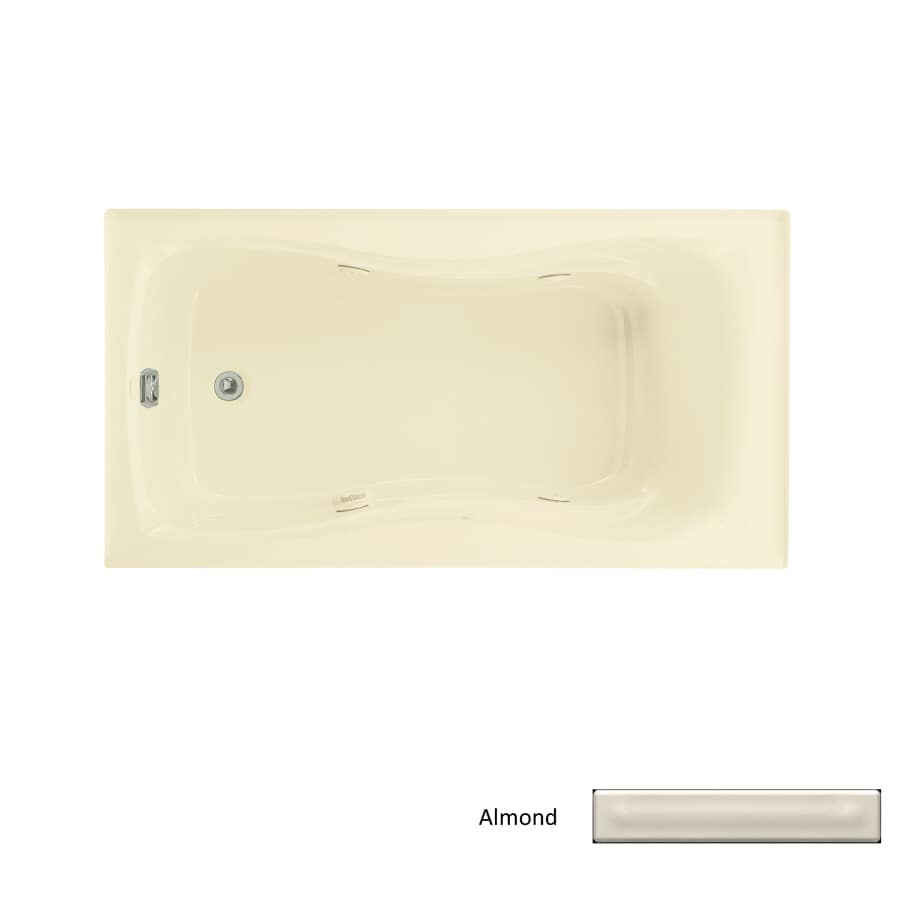 KOHLER Hourglass 60-in Almond Acrylic Drop-In Whirlpool Tub with Left-Hand Drain