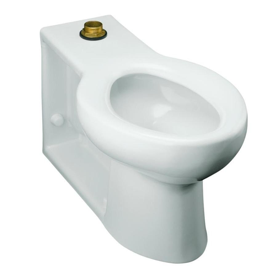 KOHLER Anglesey White Elongated Standard Height Toilet Bowl
