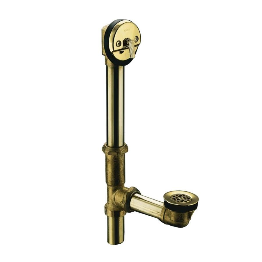 KOHLER 1-1/2-in Vibrant Polished Brass Triplever with Brass Pipe