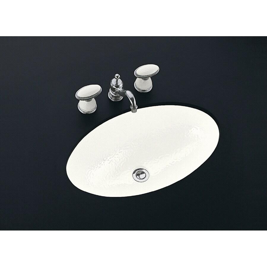 KOHLER Artist Edition Garland White Undermount Oval Bathroom Sink