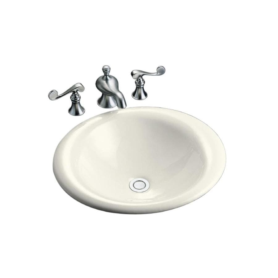 Shop kohler iron bell biscuit cast iron vessel oval bathroom sink at Kohler cast iron bathroom sink