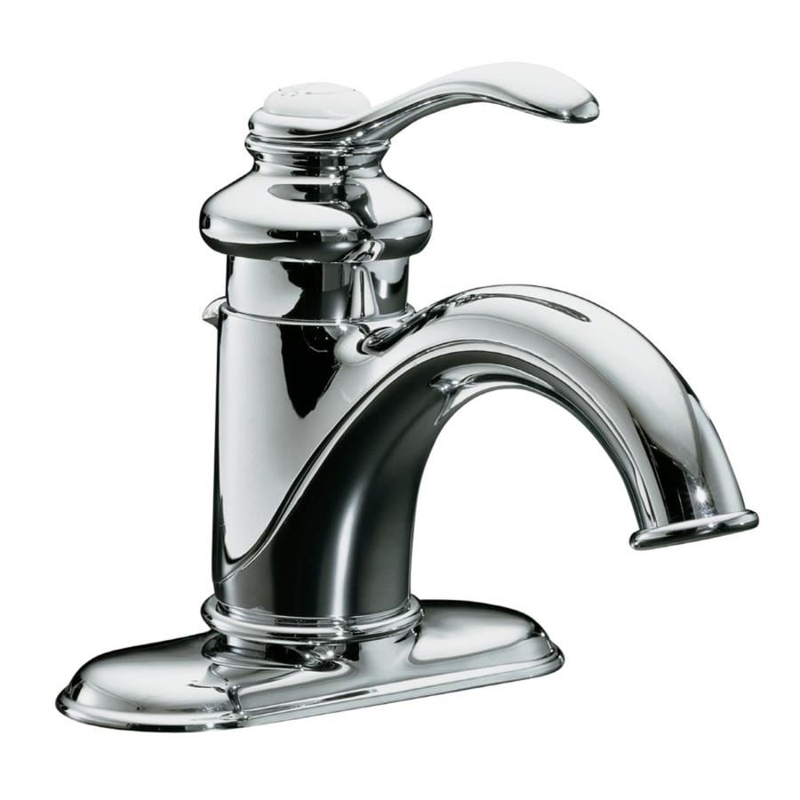 KOHLER Fairfax Polished Chrome 1 Handle 4 In Centerset WaterSense Bathroom  Faucet (Drain