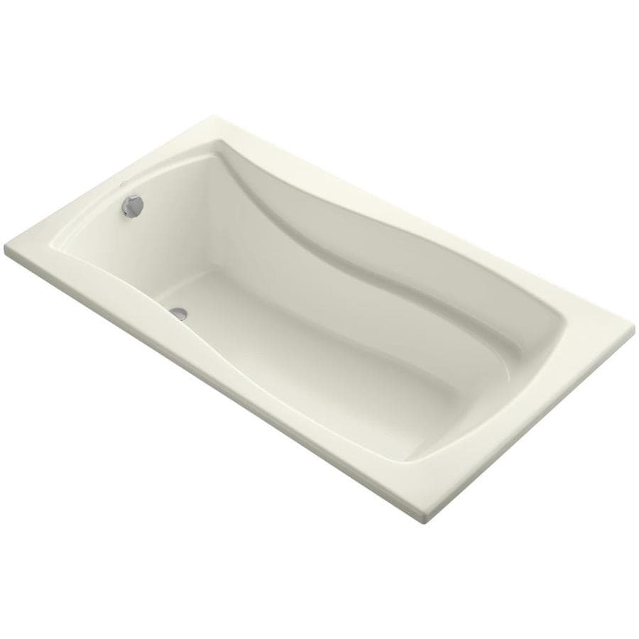 KOHLER Mariposa 66-in Biscuit Acrylic Drop-In Bathtub with Reversible Drain