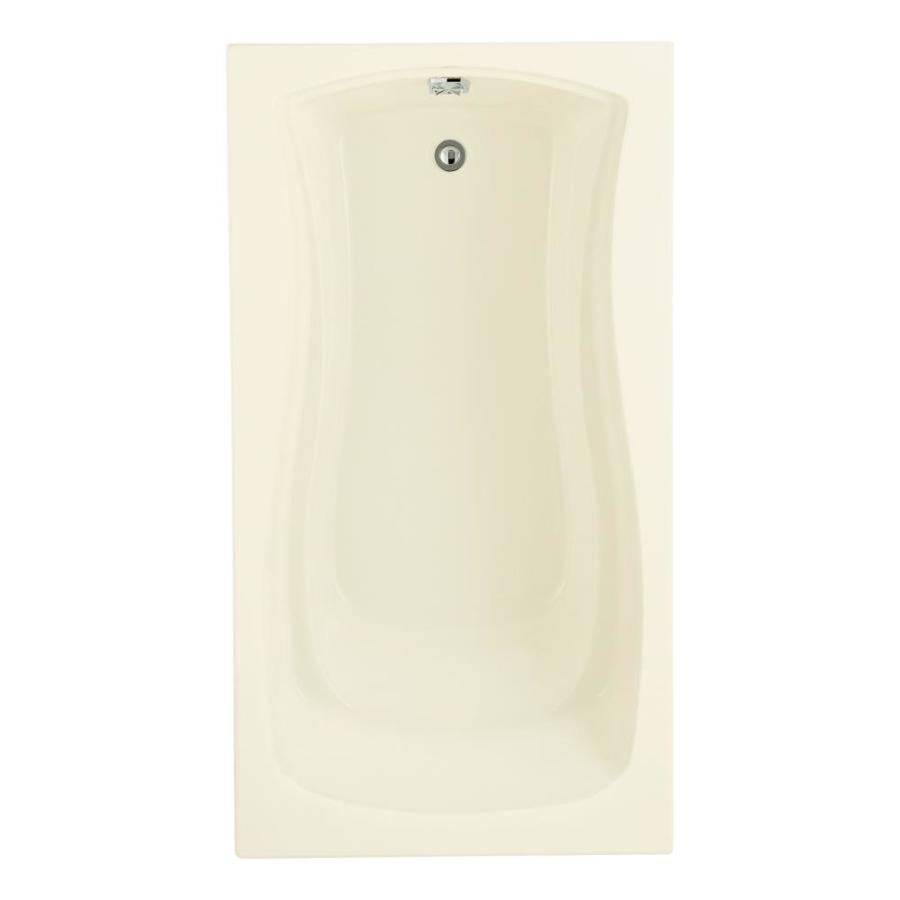 KOHLER Mariposa Biscuit Acrylic Hourglass In Rectangle Drop-in Bathtub with Right-Hand Drain (Common: 36-in x 66-in; Actual: 20-in x 36-in x 66-in)