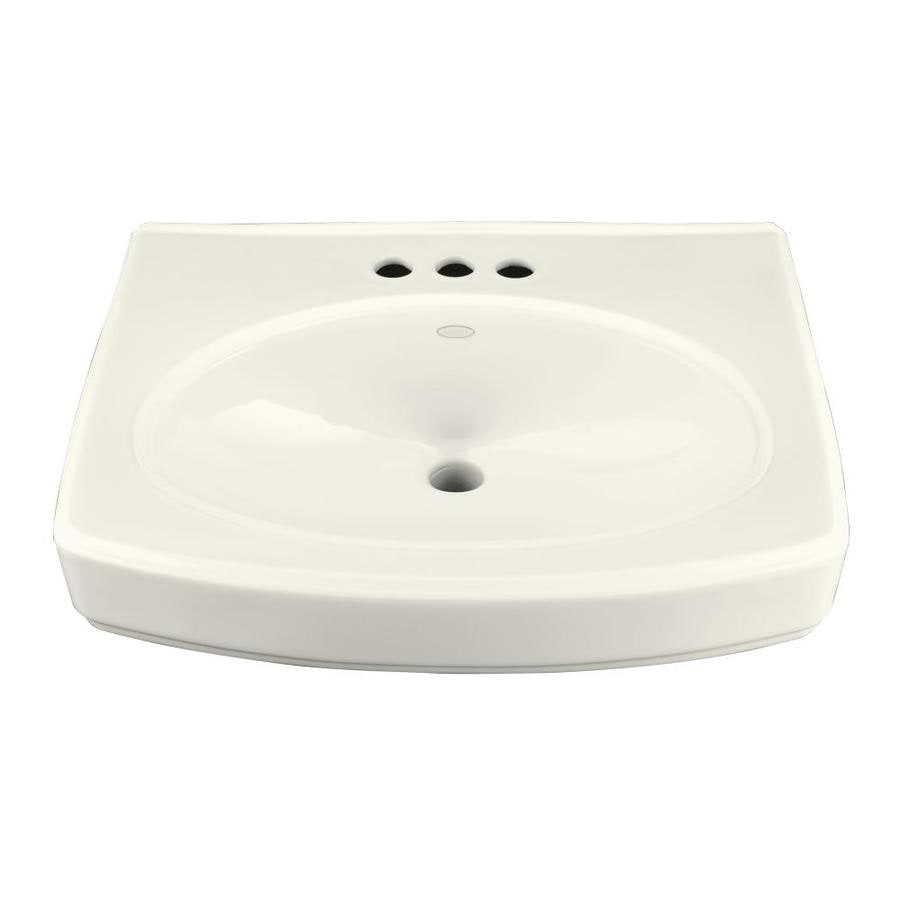 KOHLER Pinoir 22-in L x 18-in W Biscuit Vitreous China Rectangular Pedestal Sink Top