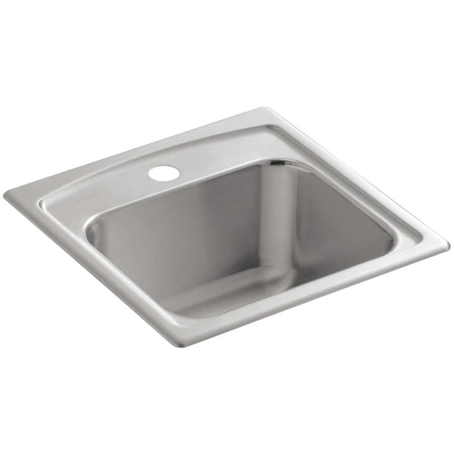 ... Steel 1-Hole Stainless Steel Drop-in Commercial/Residential Bar Sink