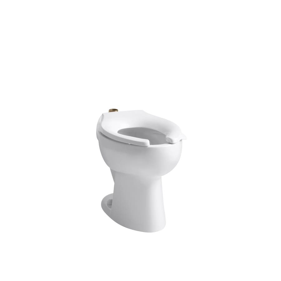 KOHLER Highcrest Comfort Height White 10-in Rough-in Elongated Toilet Bowl