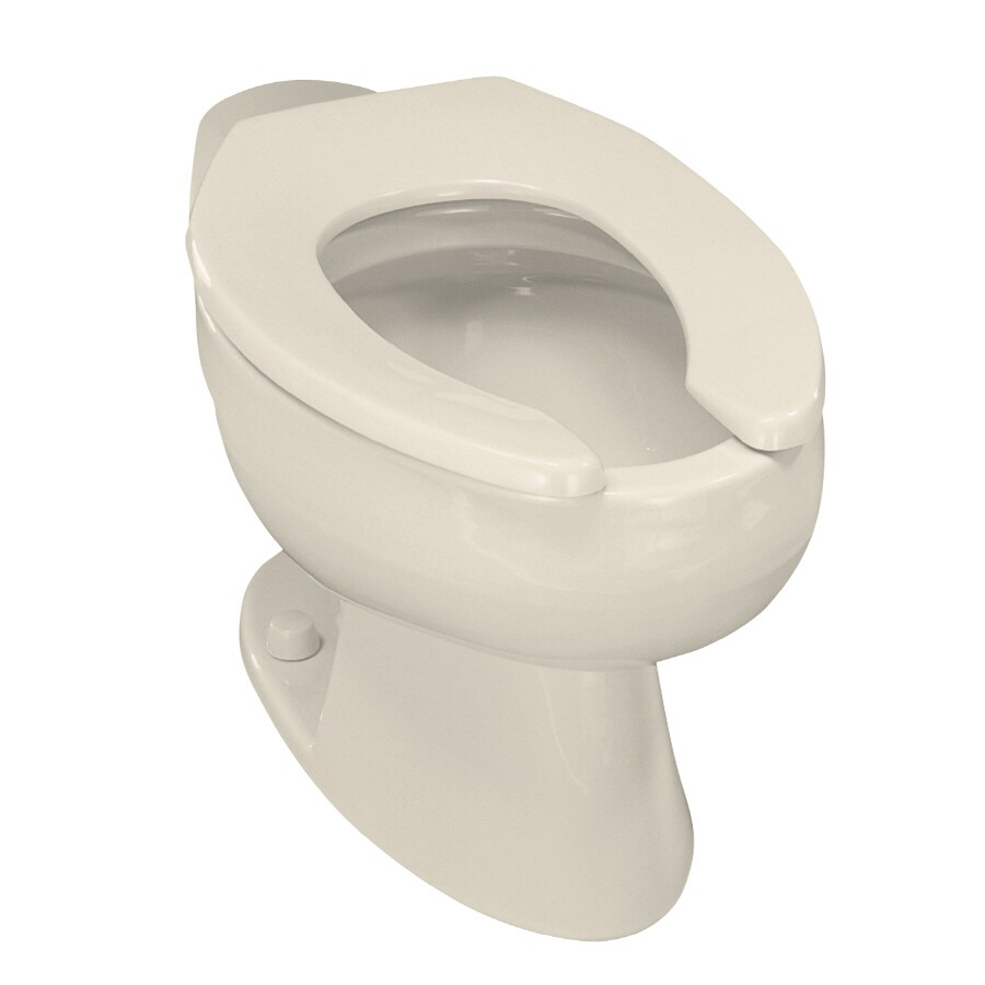 KOHLER Wellcomme Almond Elongated Standard Height Toilet Bowl