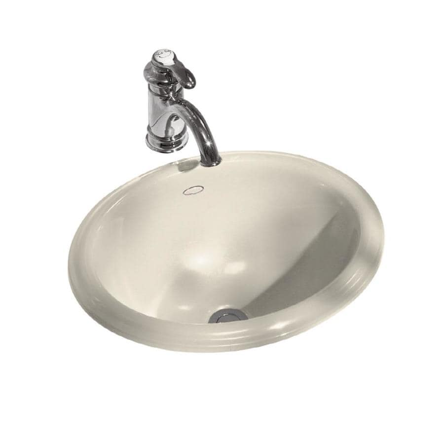 KOHLER Intaglio Almond Drop-in Oval Bathroom Sink