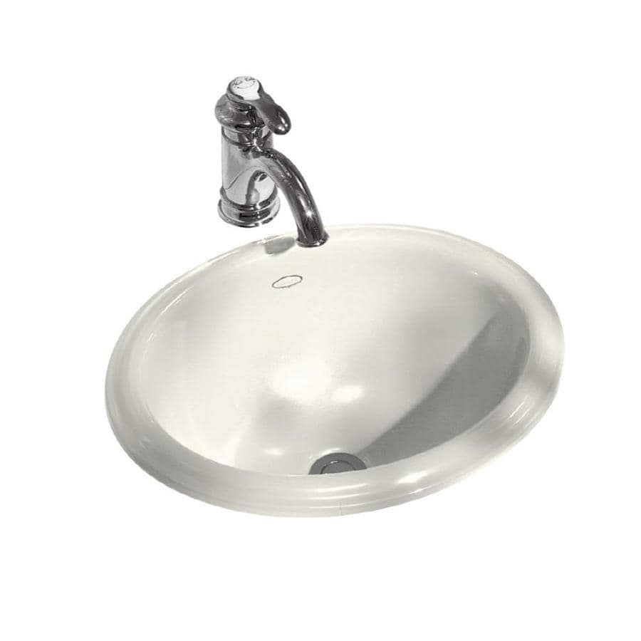 KOHLER Intaglio Biscuit Drop-in Oval Bathroom Sink