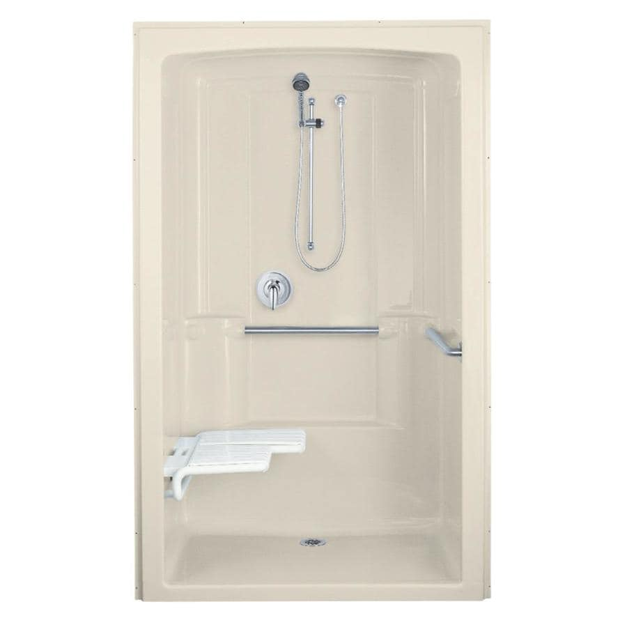 shop kohler freewill almond acrylic one piece shower