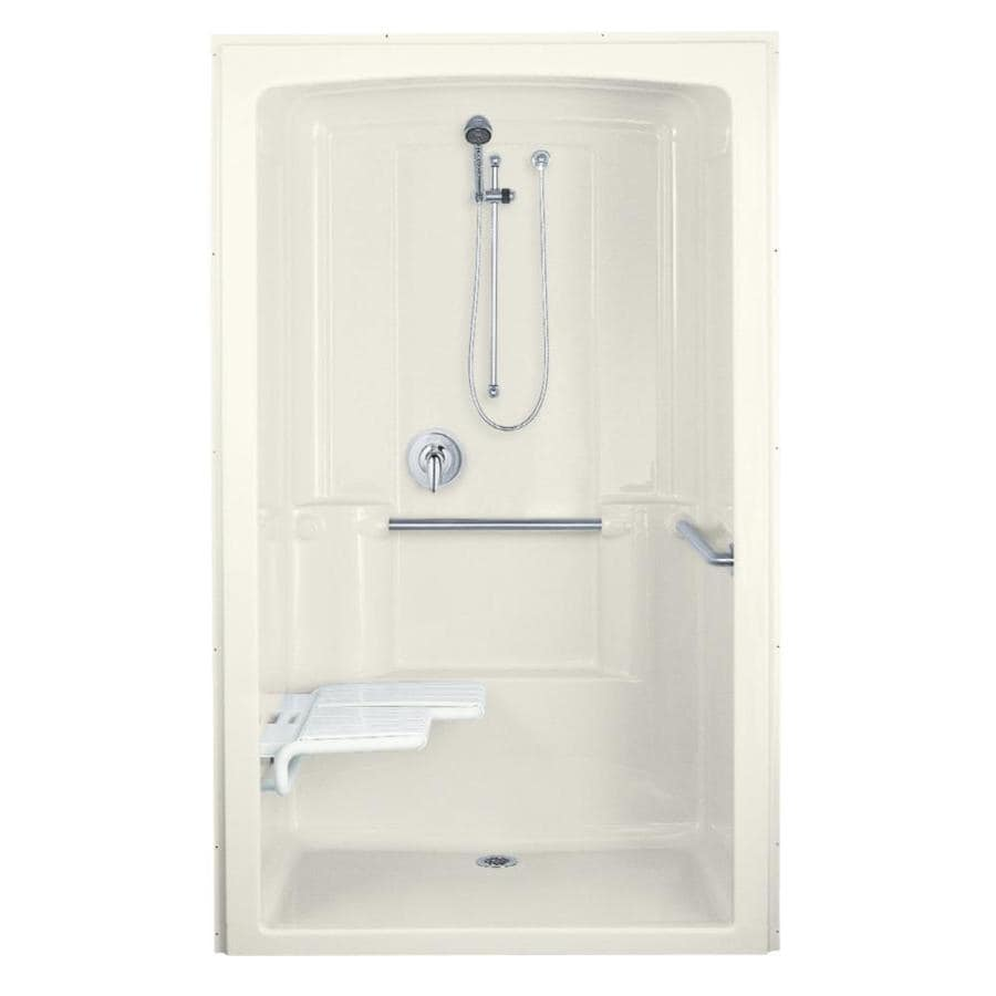 KOHLER Freewill Biscuit Acrylic One-Piece Shower Integrated Seat (Common: 38-in x 52-in; Actual: 84-in x 37.5-in x 52-in)