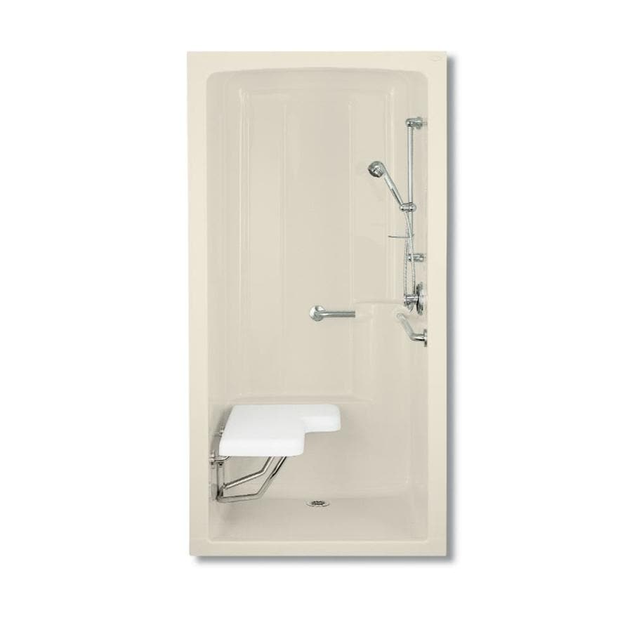 KOHLER Freewill Almond Acrylic One-Piece Shower Integrated Seat (Common: 38-in x 45-in; Actual: 84-in x 37.25-in x 45-in)