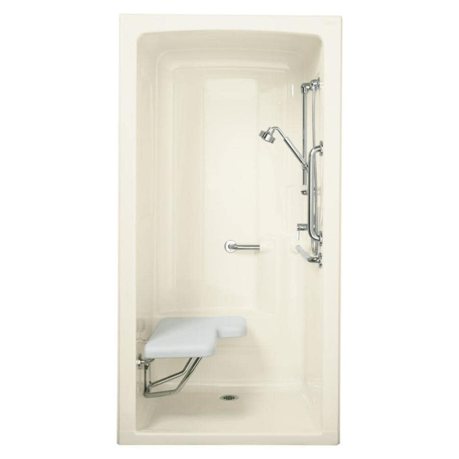 KOHLER Freewill Sunlight Acrylic One-Piece Shower Integrated Seat (Common: 38-in x 45-in; Actual: 84-in x 37.25-in x 45-in)