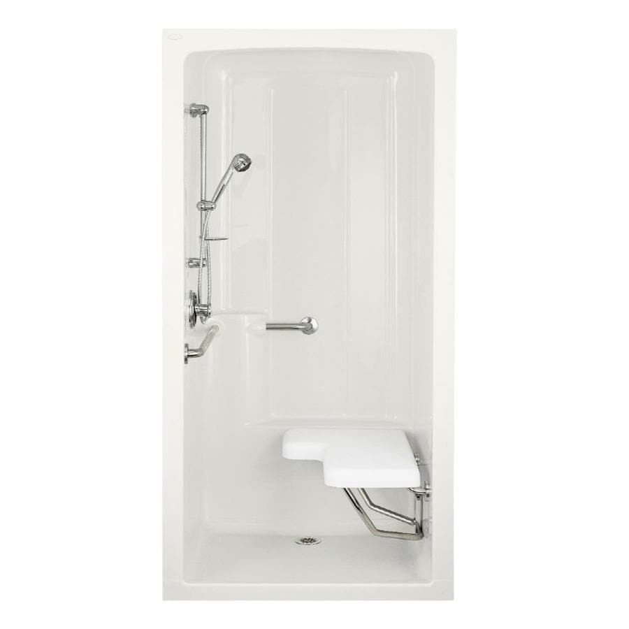 KOHLER Freewill White Acrylic One-Piece Shower Integrated Seat (Common: 38-in x 45-in; Actual: 84-in x 37.25-in x 45-in)