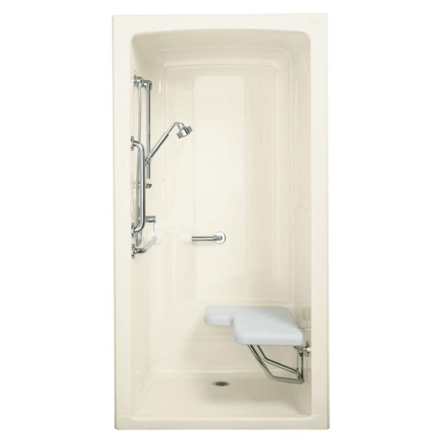 KOHLER Freewill Biscuit Acrylic One-Piece Shower Integrated Seat (Common: 38-in x 45-in; Actual: 84-in x 37.25-in x 45-in)