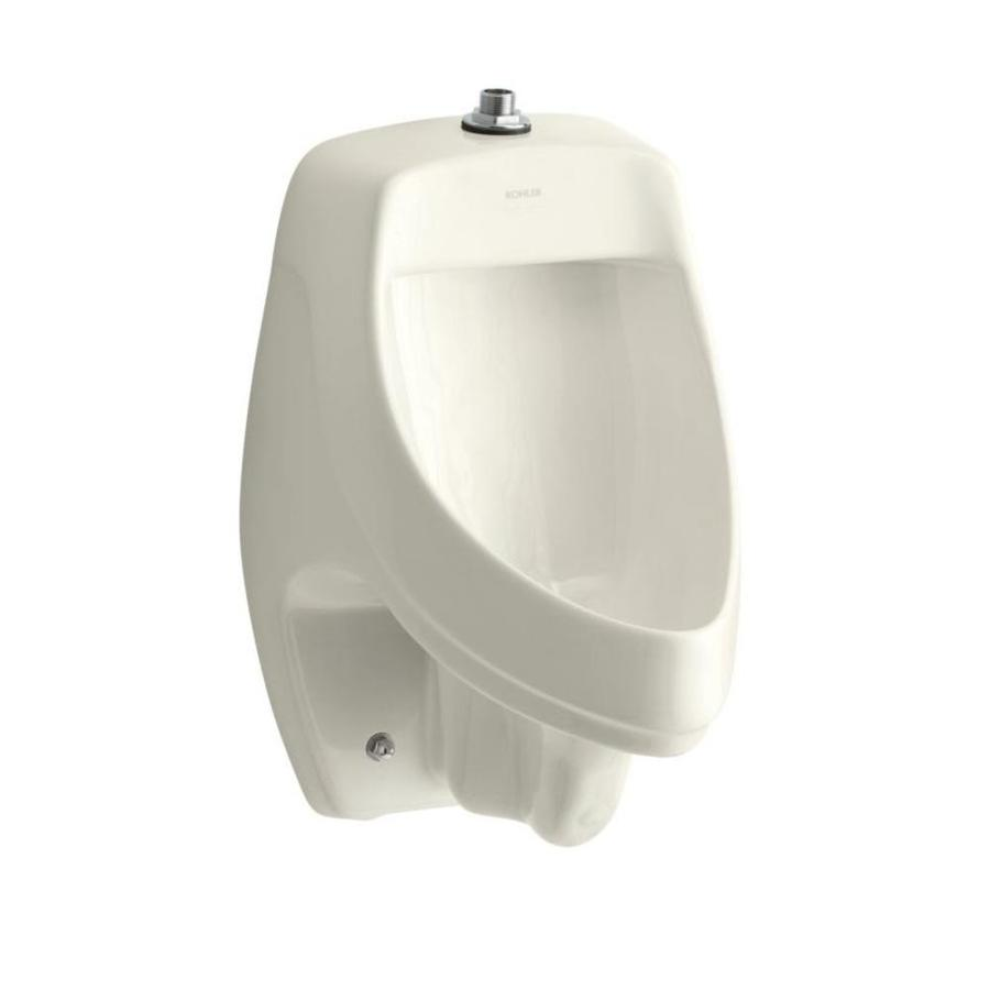 KOHLER 13.5-in W x 20.375-in H Biscuit Wall-Mounted Urinal