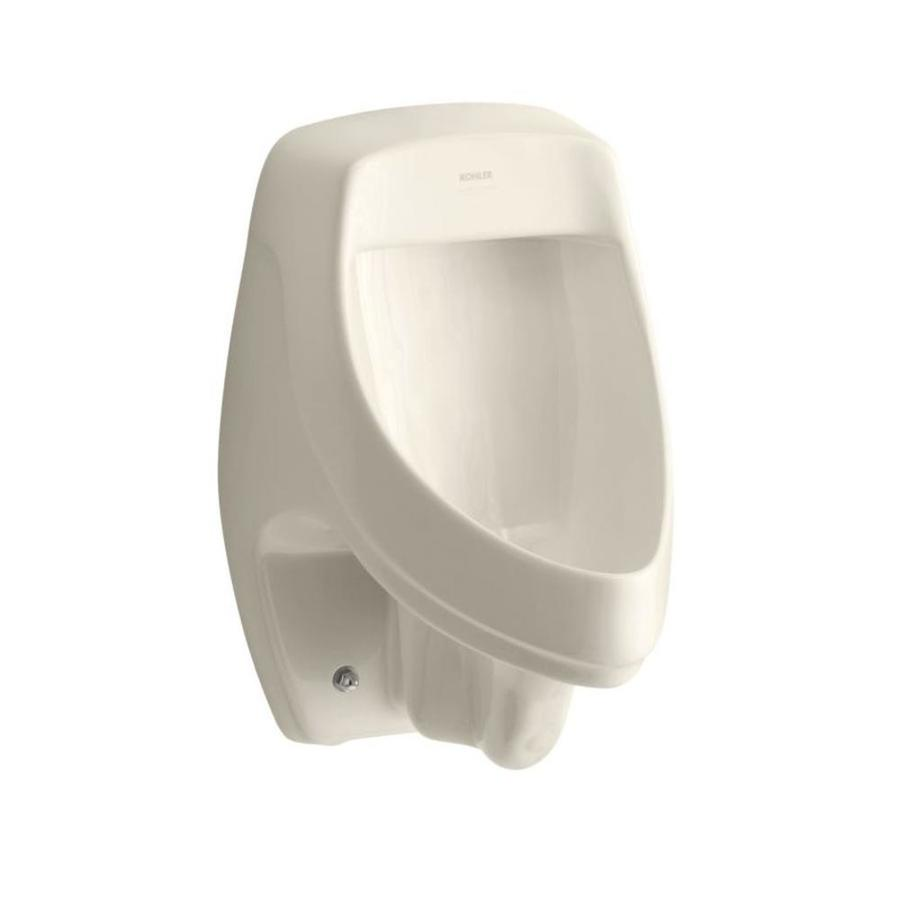 KOHLER 13.5-in W x 20.375-in H Almond Wall-Mounted Urinal