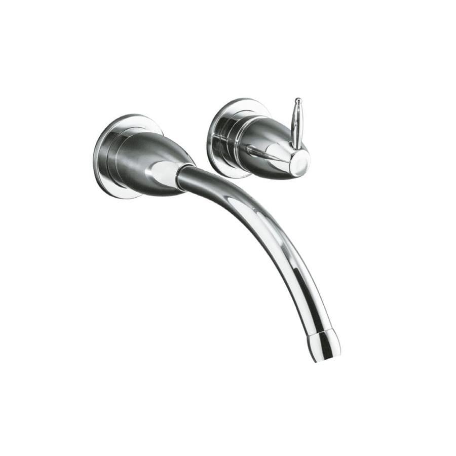 KOHLER Falling Water Polished Chrome 1-Handle 4-in Centerset Bathroom Faucet