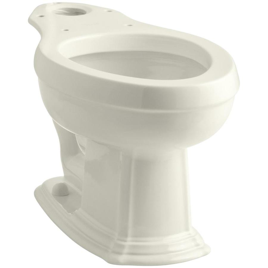 KOHLER Portrait Standard Height Biscuit 12-in Rough-In Elongated Toilet Bowl