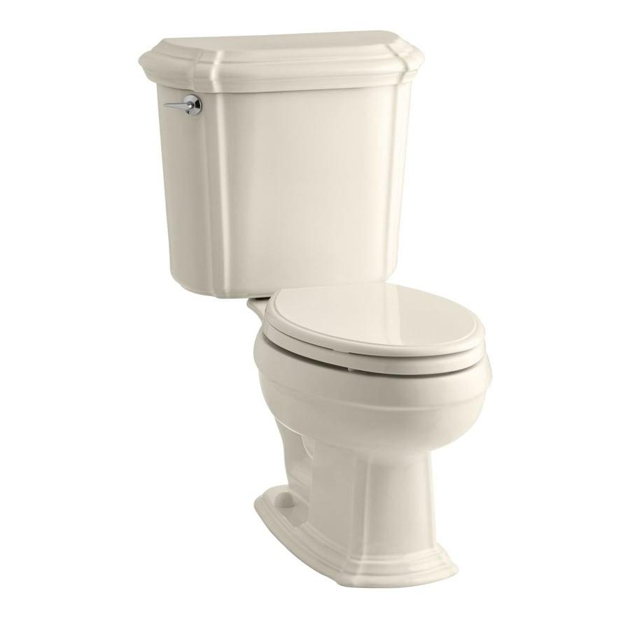 Shop Kohler Almond Rough In Elongated Toilet At Lowes Com