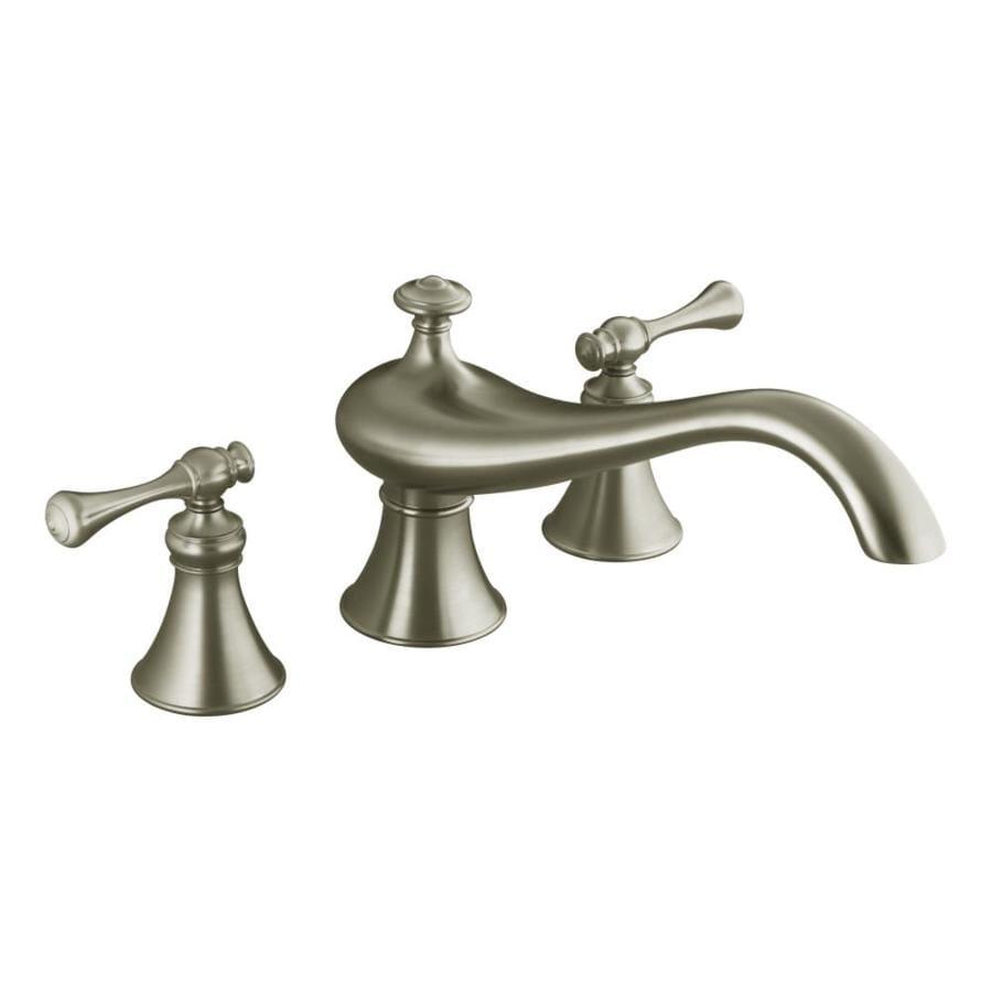 KOHLER Revival Vibrant Brushed Nickel 2-Handle Deck Mount Bathtub Faucet
