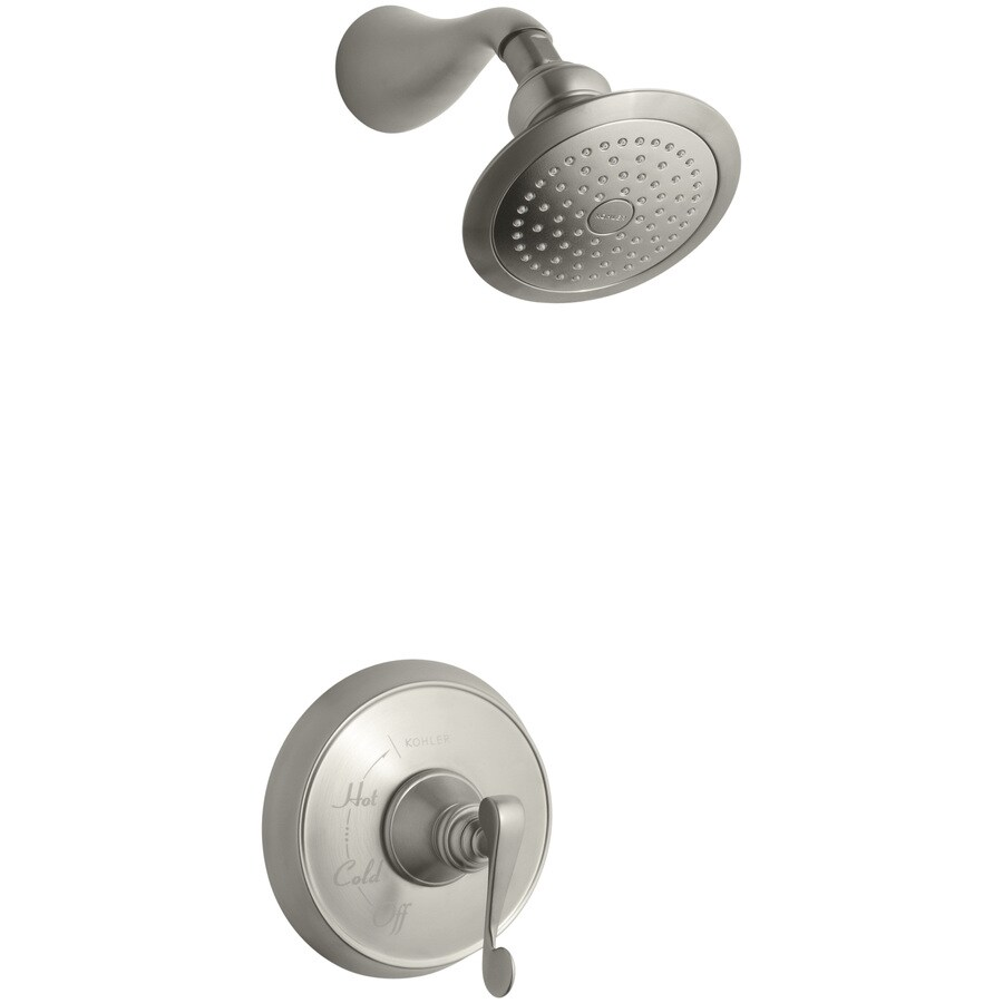KOHLER Revival Vibrant Brushed Nickel 1-Handle Shower Faucet Trim Kit with Single Function Showerhead