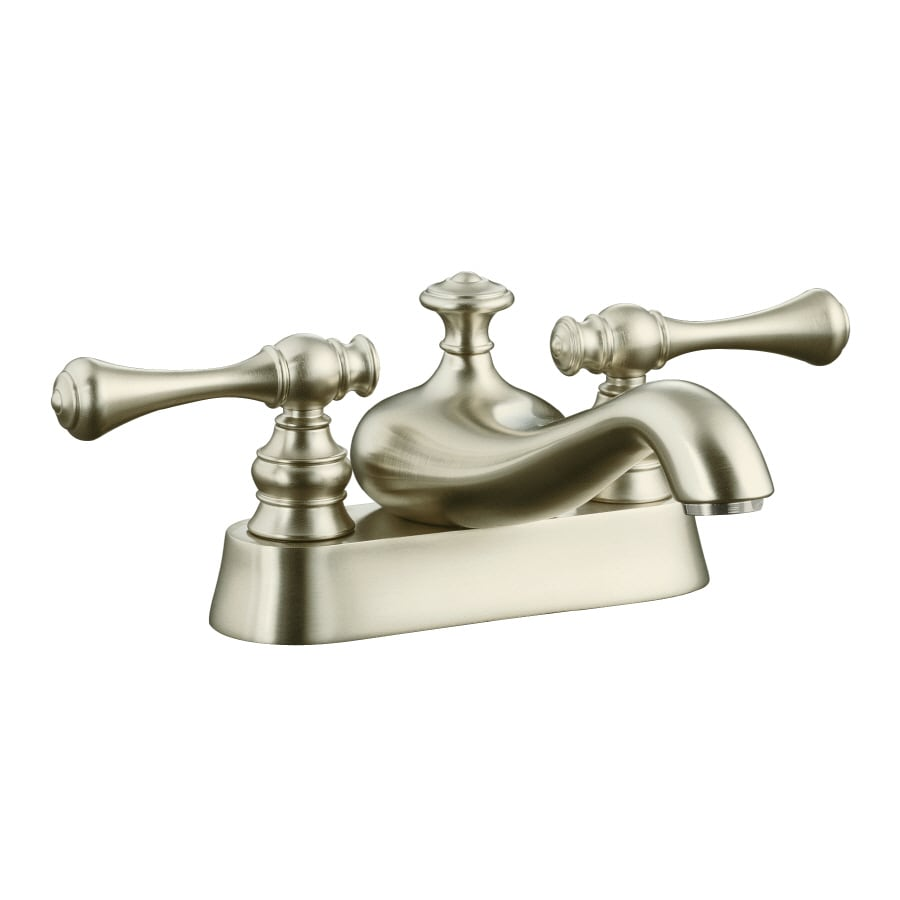 Shop Kohler Revival Vibrant Brushed Nickel 2 Handle 4 In Centerset Watersense Bathroom Faucet