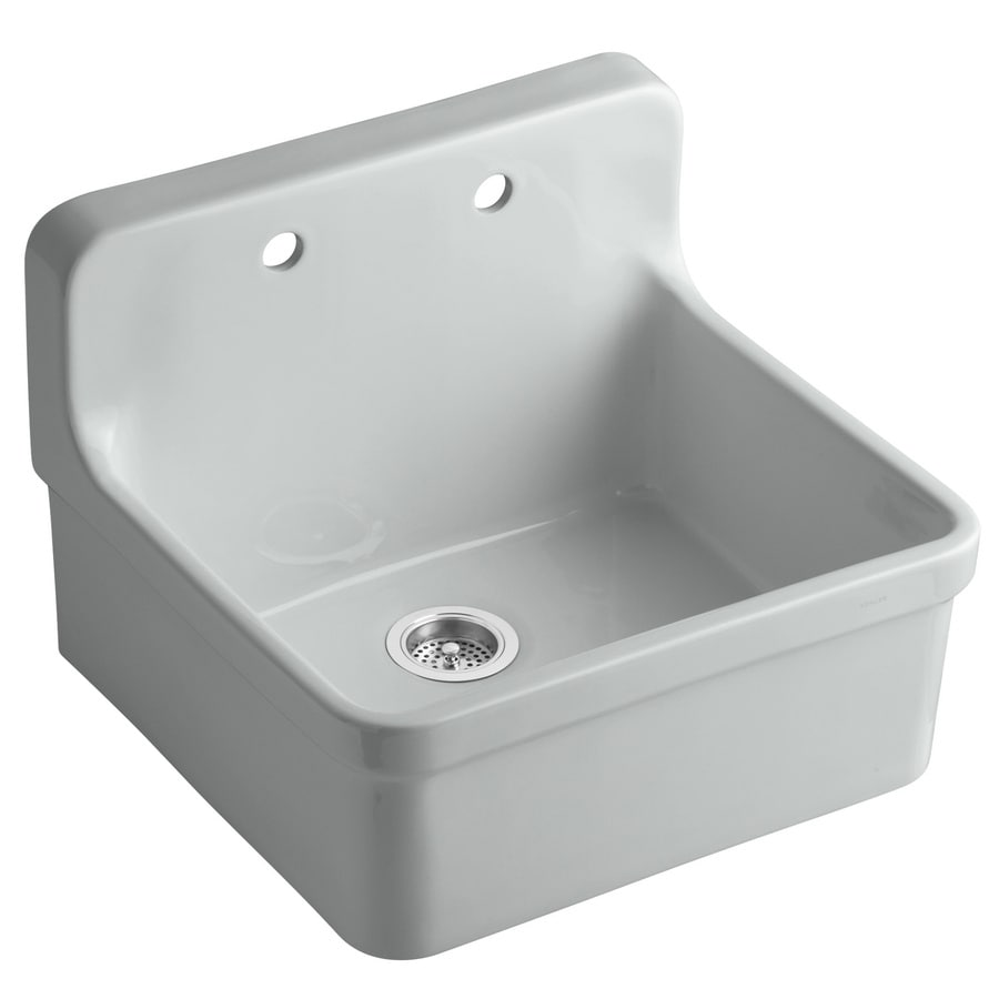 Nice KOHLER Gilford 22 In X 24 In Ice Grey Single Basin Porcelain Drop