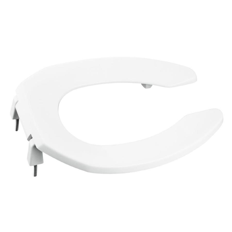 KOHLER Lustra White Plastic Elongated Toilet Seat