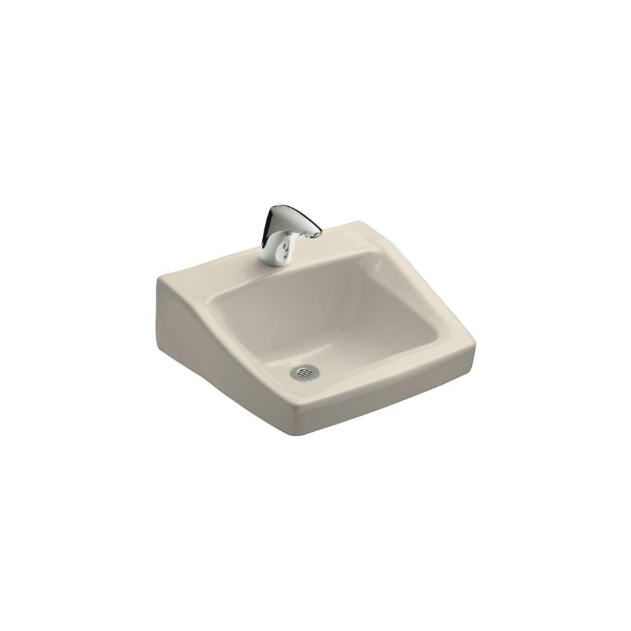 KOHLER Chesapeake Almond Wall-Mount Rectangular Bathroom Sink with Overflow
