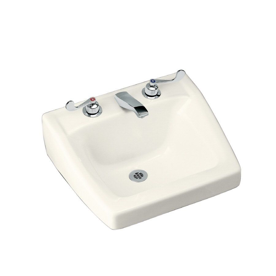 kohler bathroom sinks shop kohler chesapeake biscuit wall mount rectangular 13384