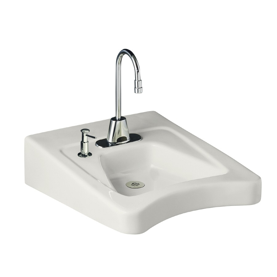 wall mount bathroom sinks shop kohler morningside white wall mount rectangular 21315