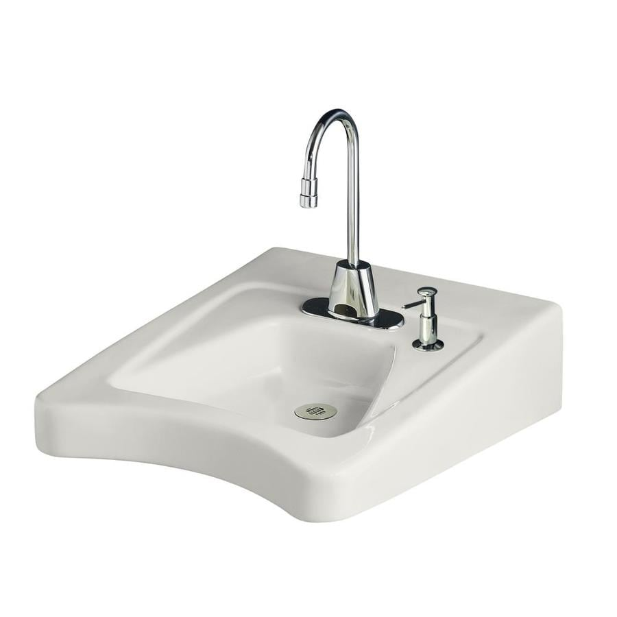 kohler wall mount bathroom sink shop kohler morningside white wall mount rectangular 23590