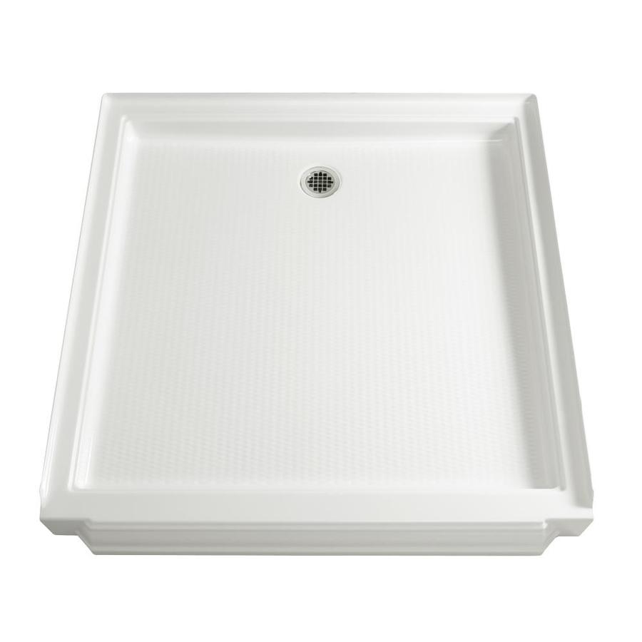 KOHLER Memoirs White Acrylic Shower Base (Common: 48-in W x 48-in L; Actual: 48-in W x 48-in L)