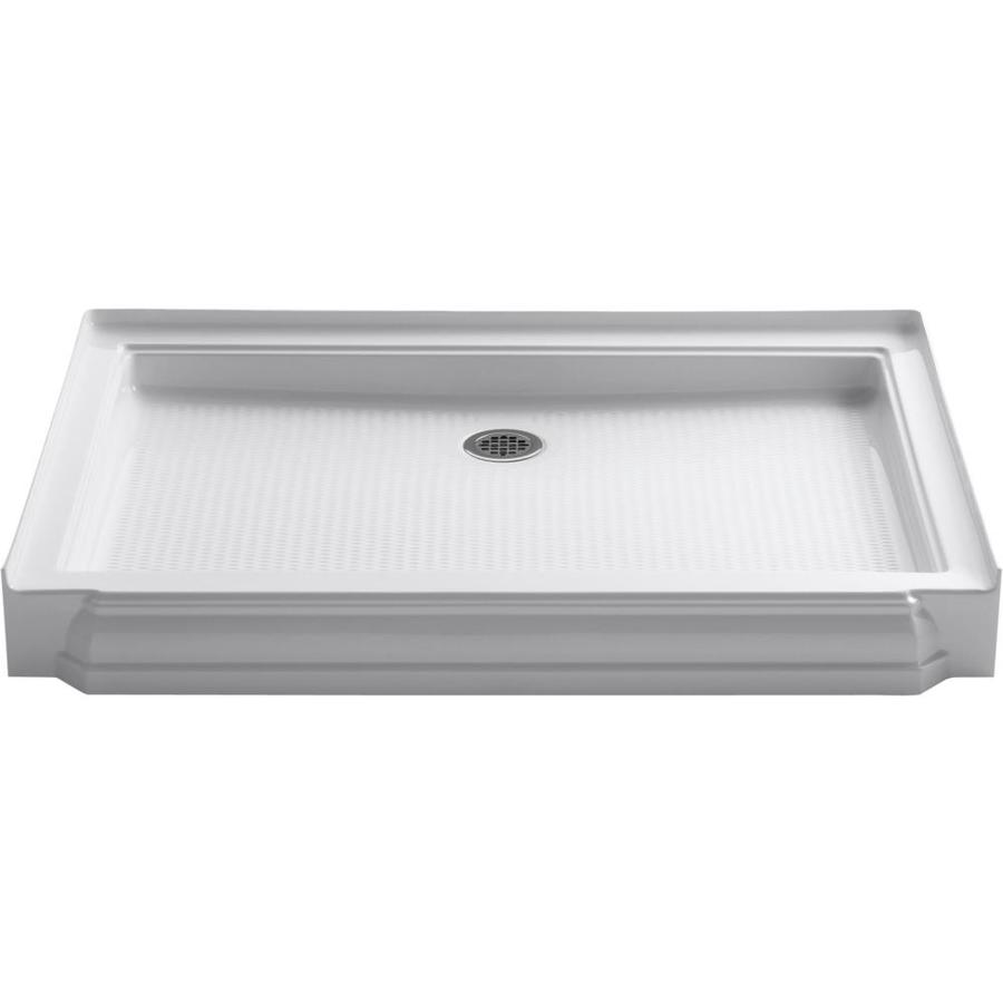 KOHLER Memoirs White Acrylic Shower Base (Common: 34-in W x 48-in L; Actual: 34-in W x 48-in L)