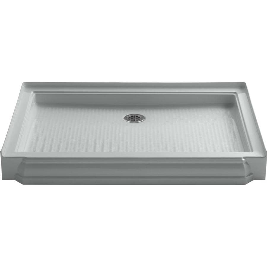 KOHLER Memoirs Ice Grey Acrylic Shower Base (Common: 34-in W x 48-in L; Actual: 34-in W x 48-in L)
