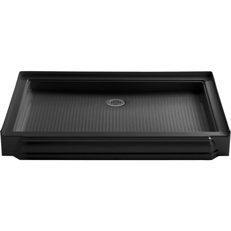 KOHLER Memoirs Black Black Acrylic Shower Base (Common: 34-in W x 48-in L; Actual: 34-in W x 48-in L)